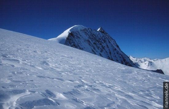 Mont Blanc de Cheilon vom Aufstieg Richtung Pinge d'Arolla