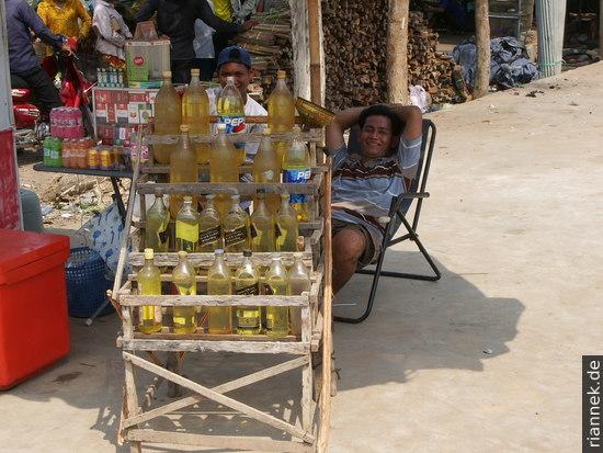 Tankstelle in Kambodscha