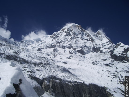 Annapurna South vom Base Camp