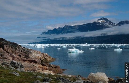 Fjord in Grönland