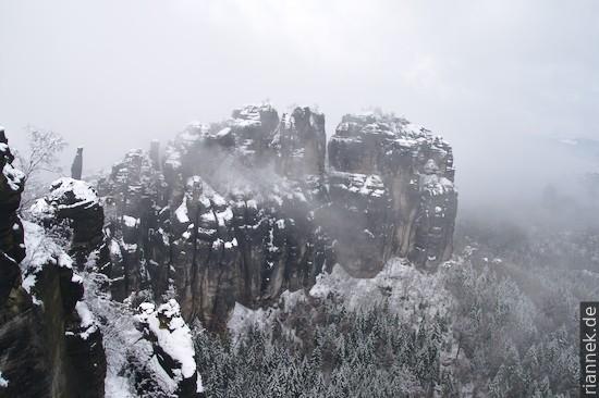 Schrammsteine im Winter