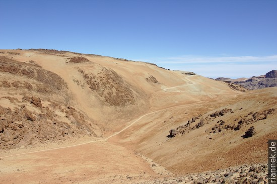 Montaña Rajada vom Aufstieg zur Montaña Blanca