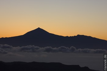Teneriffa von La Gomera aus