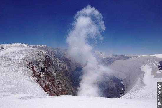 Krater des Vulkans Villarrica