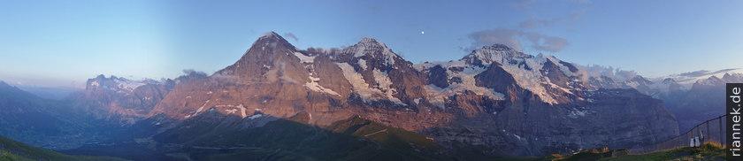 Eiger, Mönch und Jungfrau vom Lauberhorn