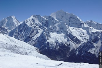 Gangchempo (6387 m) vom Tsergo Ri