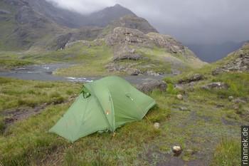 Zelt bei Loch Coruisk