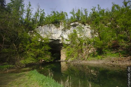 Das große Felstor Veliki Naravni Most, Rakov Škocjan