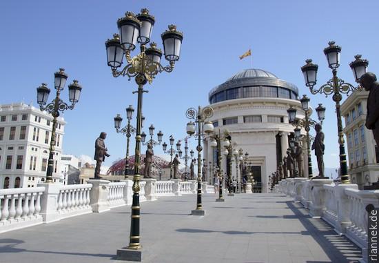 Pseudoaltstadt in Skopje