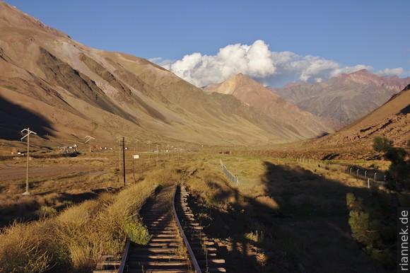 Schienen bei Puente del Inca